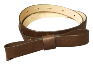 Kate Spade Kate Spade New York Leather Skinny Bow Belt - Brown
