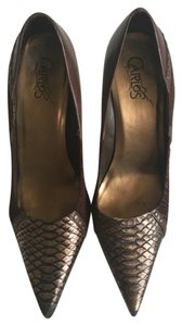 Carlos by Carlos Santana Crocodile Brown & Bronze Pumps