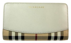 Burberry Beige Leather &