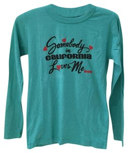 Other T Shirt Teal, black, red