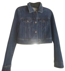 Theory Denim Gold Hardware Cotton Stretchy Medium Wash Womens Jean Jacket
