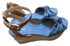 MICHAEL Michael Kors Sandal Denim Blue Wedges
