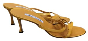 Manolo Blahnik yellow Sandals