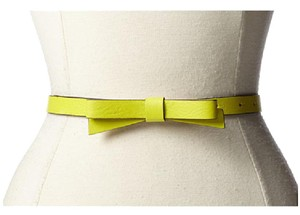 Kate Spade Kate Spade New York Leather Skinny Bow Belt in Neon Yellow