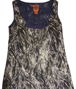 Tory Burch Metallic Sleeveless Office Top Multi