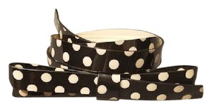 Kate Spade Kate Spade New York patent leather skinny bow belt - black polka dot