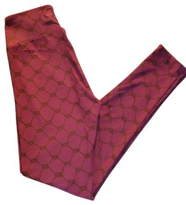 LuLaRoe Os Rope Pattern Raspberry Leggings
