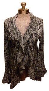 Brittany Black Acrylic Eye And Hook Long Sleeves Cardigan