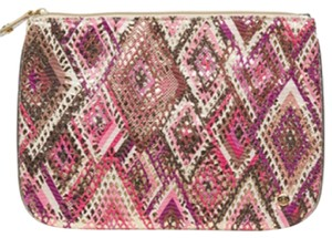 Stephanie Johnson pink and gold Clutch
