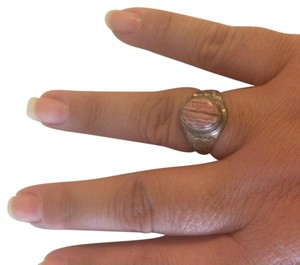 Sterling Silver Rhodocrosite Ring Size 10 Sterling Silver Ring