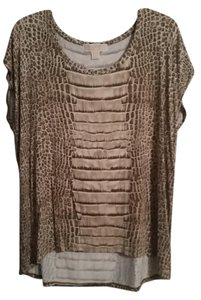 Michael Kors Top Brown /Bronze animal print