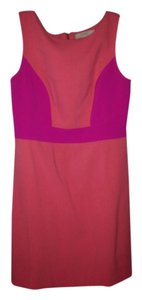 Ann Taylor LOFT Casual Pink Shift Work Pink Orange Work Casual Tory Burch Summer Light Pink Hot Pink Sleeveless Dress