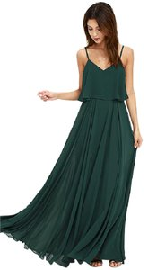 Forest Green Maxi Dress by Lulu*s Maxi Bridesmaid Green Full Length