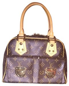 Louis Vuitton Lv Monogram Satchel in Brown