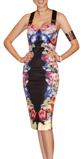 80bb0d7bc5309 Ted Baker Black Deony Bodycon In Tapestry Floral Print Mid-length ...