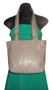 Coach Vintage Leather Tote in Beige