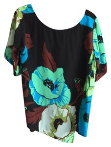 Tracy Reese Top Black/floral print