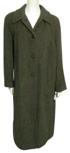 ada parini Moss 12 Alpaca Fur Mohair L Virgin Wool Large Winter 46 Long Designer Italy Ica Pea Coat