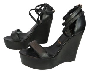 Christian Louboutin Louboutin Strappy Ankle Black Wedges