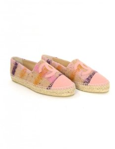 Chanel Espadrilles Double Sole Pink Flats