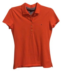 Tommy Hilfiger Button Down Shirt Orange