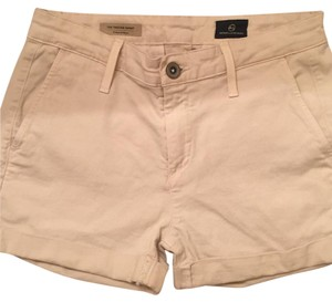 AG Adriano Goldschmied Tailored Jeans Cuffed Shorts Beige