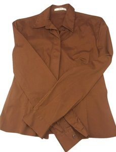 Prada Button Down Shirt Chestnut Brown