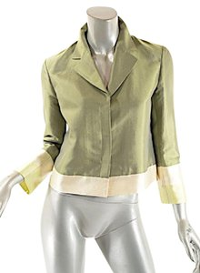Emilio Pucci Pucci Spring Silk Rayon Cotton Green Jacket