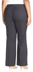 Sejour Plus Dress Business Trouser Pants Grey Navy Pinstripe