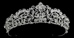 Vintage Inspired Scroll Rhinestone Tiara