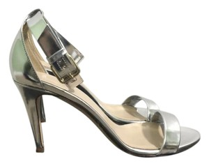 J.Crew Metallic Leather Made In Italy Silver Formal