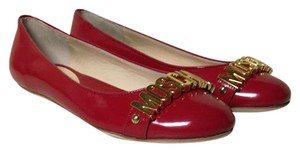 Moschino Red/Gold Flats