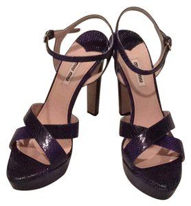Miu Miu Royal Blue Sandals