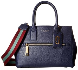 Marc Jacobs Gotham Midnight Webbing Strap Tote in Blue / Vino / Multi