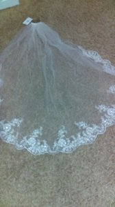 David's Bridal Scalloped Edge Lace Veil