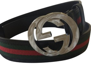 Gucci Gucci web belt red and green