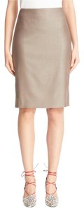 Max Mara Pencil Wool Blend Skirt Beige