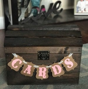 Shabby Chic Handmade Card Box
