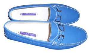 Ralph Lauren Collection Comfortable Woman's Loafer Made In Italy Blue Flats