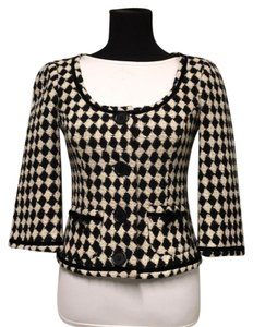 Trina Turk black and ivory Blazer