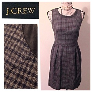 J.Crew short dress Black Gray on Tradesy