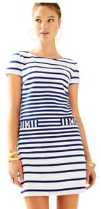 Lilly Pulitzer short dress White And Blue Striped on Tradesy