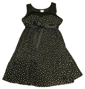 Motherhood Maternity Black and white polka dot dress