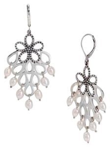 Lagos LAGOS LUNA PEARL FLORAL CHANDELIER EARRINGS