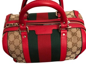 Gucci Satchel in beige and red