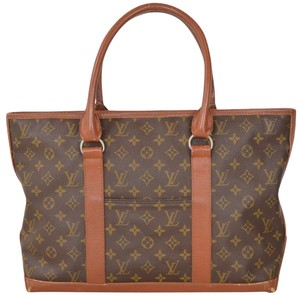Louis Vuitton Monogram Sac Handbag Tote in Brown