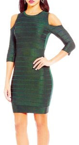 French Connection Green Midi Bodycon Dress