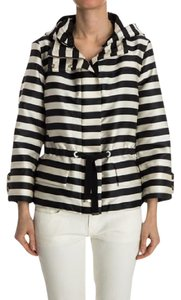 Moncler Paris Chic Spring Hooded Black and White Striped Jacket
