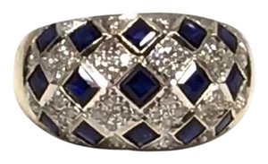 Other CERTIFIED $2,850 ESTATE SAPPHIRE AND DIAMOND 14 KT RING 2.14 TCW WHOLESALE $1,450