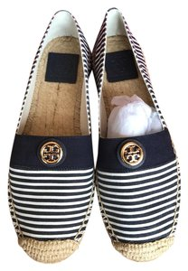 Tory Burch navy and white Sandals